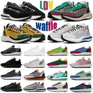 2020 sacai waffle VaporWaffle pegasus parçası tıknaz dunky ldv Tur Sarı erkek kadın ayakkabı beyaz naylon erkek bayan eğitmenler spor ayakkabı