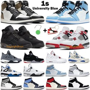 Basketball Chaussures Hommes Femmes 1S High Og 1 Université Blue Dark Moka Obsidian Hyper Royal Bred 4S Fire Red Black Cat Mens Sneakers