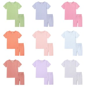 Baby Boy Girl Clothe Set Shirts Shorts Suit 2 PCS Ins Summer Sports Pajamas Boutique Clothing Outfit