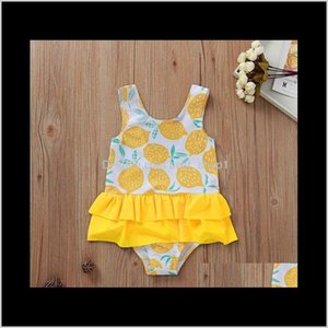Infant Baby Kids Girls Angle Wing Lace Suspender Rompers Onepiece With Cap Girl Childrens Swimwear Ydhpk Onepieces 9Xkw5