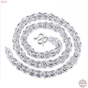 Collares de moda Bocai S990 Dominio de Hombres puros Dragon Head National Style Necklace Silver C1
