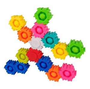 Fidget Toy Push Bubble Music Sensory Splicable Puzzle Building Blocks Spinner Toy Unlimited Splicing Combination Buildings Block Puzzle Decompression Toys