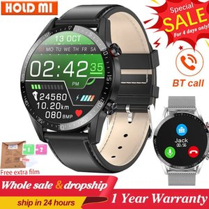 L13 Business Smart Watch Männer Bluetooth Anruf IP68 Wasserdichte EKG Druck Herzfrequenz Fitness Tracker Sport Smartwatch