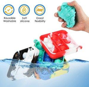 Mini Push POP Bubble Fidget Sensory Party Jouets Simple Dimple Relax Stress Stress Revivez Cadeau à la main Cadeau Keychain Jouet pour adultes et KidsStress Relief Cadeaux Garçons Filles (Couleur 4)
