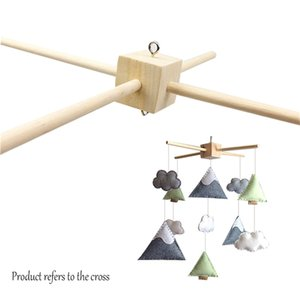 10Set Wooden Toy Decor Room Crib Hanger Frame DIY Handmade Toys Gifts Food Grade Baby Mobile Holder 210320