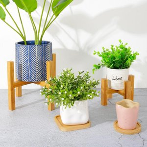 Planters & Pots Free Standing Bonsai Holder Home Balcony Wood Flower Pot With Foot Pad Smooth Surface Modern Shelf S7