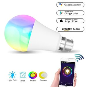 WiFi Wireless LED Bulb Smart Controller Compatible with Alexa Google Home,Working with Android,iOS System, RGB Bulbs In Stock