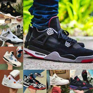 2021 COMBED BLACK CAT 4 4S Баскетбольные туфли Мужчины Мужская Белая цемент татуировки NRG Raptors Encore Кроссовки Кроссовки Огонь красных синглов