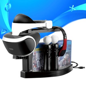 PS VR Storage Bracket Showcase PS4 PS Move Controller Charger Dock Station Game Discs Holder for PSVR CUH-ZVR2 2th Display Stand