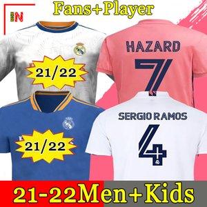 Maglie REAL MADRID 20 21 maglia calcio HAZARD SERGIO RAMOS BENZEMA VINICIUS divise maglia da calcio camiseta uomo + kit per bambini 2020 2021 soccer jerseys .