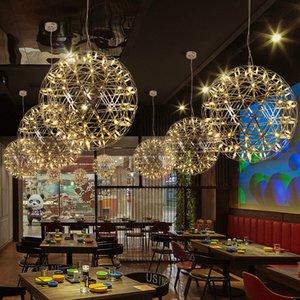 Postmodern LED Ball Lamp Chandelier Creative Spark Artistic Personality Living Room Restaurant Stairs Hall Lobby Firework Hang Light