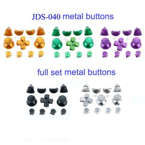 Custom Alloy Full Metal Bullet Buttons thumbsticks Dpad D-pad ABXY L1 R1 L2 R2 Trigger Button Set for PS4 Pro Controller jds-040 jdm-040 Aluminum Keys