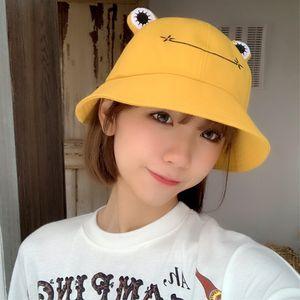 Women Fashion Frog Bucket Hat Summer Female Parent-Child Fishing Cap Korean Wild Cute Sun goods