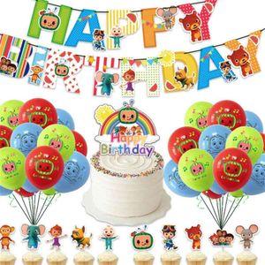 COCOMELON 12InCH Dibujos animados Bebé Familia Familia Moda Precioso Día de Cumpleaños Decoración de la fiesta de cumpleaños Juguetes de ornamento del hogar GG31804