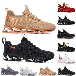 Moda Nefes Mens Womens Koşu Ayakkabıları A8 Üçlü Siyah Beyaz Yeşil Ayakkabı Açık Erkekler Kadın Tasarımcı Sneakers Spor Eğitmenler Büyük Boy A1