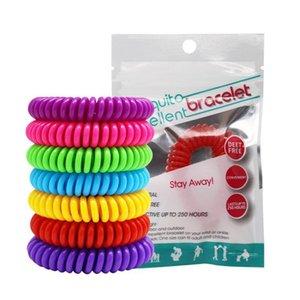 Mosquito Repellent Bracte Bracte Bracelet Pest Bracelets Защита насекомых Кемпинг Водонепроницаемая спиральная запястья Наружная крытая 10 цветов