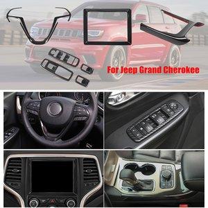 Lenkrad Trim Navigation Abdeckung Fenster Button Frame Getriebe DCoration für Jeep Grand Cherokee 16+ Innenzubehör
