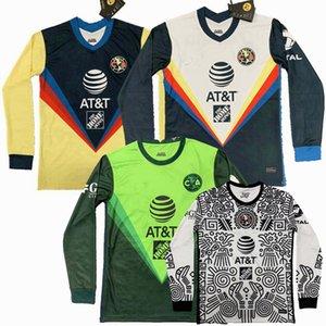 2020 2021 2022 Club Amerika Uzun Kollu Futbol Formaları R.Martínez Giovani 20 21 Futbol Tam Gömlek