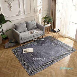 Design Big Size Rug Indoor Prayer Carpet Fashion 3 Color Grey Dark Grey Beige Print Geometric Striped Bedroom Mat Z