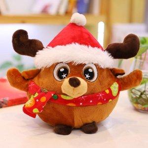 23CM Christmas Plush Toy Cute Doll for Santa Claus Xmas Reindeer Soft Cartoon Stuffed Animals Dolls Toys Gift Home Decoration GWA9227
