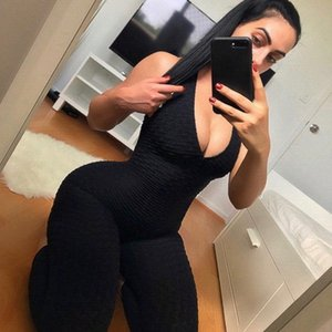Yoga Pants One Piece Jumpsuit leggings Sport Sportswear Set Clothing Backless Suit Women Butt Lifting Workout Tracksuit lift Tight Fit z9YA#