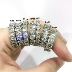 Mexican Style Zircon Hip Hop Wedding Rings Instagram Trend Fashion Ring White Jewelry Female Engagement Gifts
