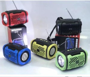 Portable Speaker with Flashlight Outdoor Indoor FM Radio Wireless Subwoofer Creative Gift Strap Small Stereo 10M Distance 1200mah Blue Black Yellow Green