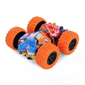 Climbing bucket car double-sided double inertia vehicle four-wheel cross-country graffiti toy rotary rocking model five colors can be choiced