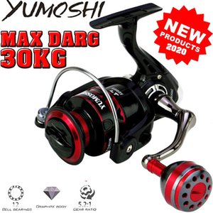 Yumoshi 1000-7000 Alles Metall 1 Wege 14 Lagerkugeln 30 kg max Drag Salt Salzwasser Surf Spinning Angelrolle Baitcasting Rollen