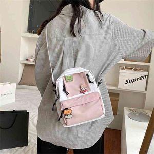 Japanese Harajuku Girl Mini Backpack Cute Cartoon Little Shoulder Bag Small Canvas Crossbody Bags Teen School bag 210911