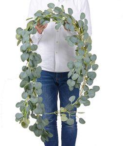 Dense Leaf Artificial Eucalyptus Vine 21 Colors Flower Wisteria Rattan Greenery DIY Garden Home Party Wedding Decoration Plant