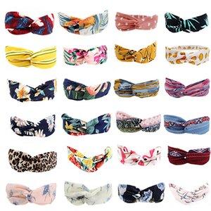 r bohemian bandas de pelo imprimir diademas fiesta vintage moda mujeres niñas verano cruz turbante vendaje bandanas hairbands accesorios wll518