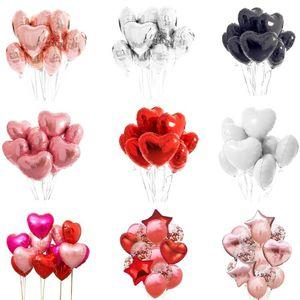 10 шт. Multi розовое золото сердца фольги воздушные шары гелий воздушный шар день рождения украшения дети взрослые свадьбы валентинка баллоны украшения