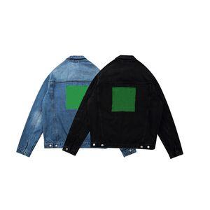 Джинсовые куртки Мужчины Женщины Streetwear Мода Лоскутная Повседневная Ретро Винтаж Куртка Длинные рукава Пальто