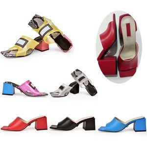 Kadın Sandal Jöle Terlik PVC Şeffaf Terlik Yüksek Topuklu 9 cm 12 cm Sandalet Slaytlar Üst Deri Kontrast Renk Serpantin Ayakkabı XX-0028