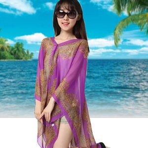 Beach Shawl Paisley Sarong Scarves Women Summer Dresses Sunscreen Print Bikini Poncho Fashion Wraps Sexy Swimwear Beachwear GWC6986