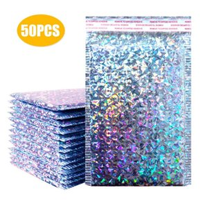 50pcs Bubble Mailers Pink Poly Mailer Self Seal Padded Envelopes Gift Bags For Book Magazine Lined Storage