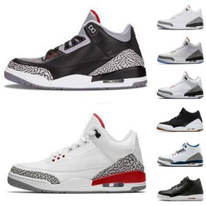 S Jumpman 3 Wolf Grey Kids Shoes Mens Fire Red Black Cat White Cement Infrared Sport True blue Men Sneakers trainers
