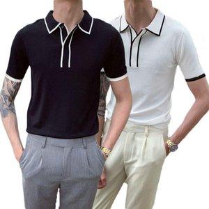 Men's Casual Shirts INCERUN 2021 Man Summer Plain White & Black Turn Down Collar Short Sleeve Shirt Male Fashion Business Style Camisa S-5XL