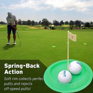 Green All-Direction Golf Putting Cup Soft Rubber Practice Training Hole Indoor Putter Flag Outdoor Tool O5H6 Aids
