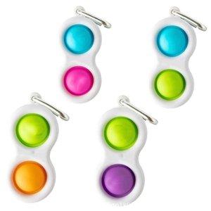 Push Bubble Simple Dimple Dimple Chaveiro Fidget Pop It Brinquedos Keychain Crianças Adulto Novel Squeeze Bubbles Puzzle Dedo Divertimento Jogo Diversão Fitgets Toy Stress Relief