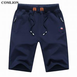 Comlion Nuovo Arrivo Men Shorts Summer Brand Brand Pantaloncini Casual Mens Cotton Homme Elegante Casual Beach Beach Shorts Pantaloni corti maschili Plus 1A 210320