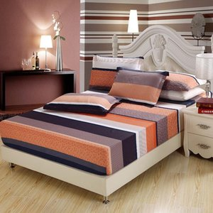 Sheets & Sets 3pcs 100%cotton Stripe Bed Fitted Sheet Elastic Mattress Cover Protector Home El Twin Full Queen King Size Bedspread