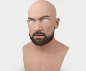 masculino latex adulto adulto silicone face máscaras para homem cosplay festa fetiche fetiche pele real