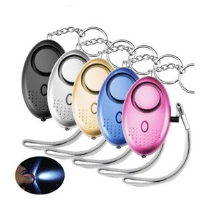 130db Egg Shape Self Defense Alarm Girl Women Security Protect Alert Personal Safety Scream Loud Keychain Alarm HHC6743