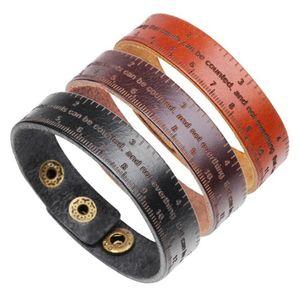 Tennis Fashion Men's Bracelet Measurment Wrap Leather Bracelets&Bangles For Male Trendy Jewelry Wide Bangles