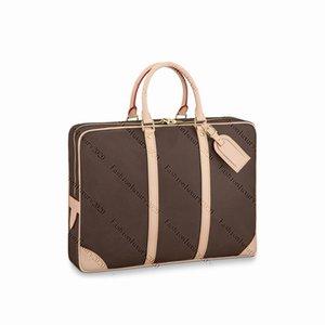 Top Quality Briefcases Briefcase For Mens Business Laptop Bags Men Computer Shoulder Handbag Messenger Bag Fashion Back Grid Travel Bags 3 Colors