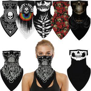 Cadılar bayramı Kafatası Ölüm Punk Korkunç Cosplay Yüz Maskesi Boyun Eşarp Maskeleri Bandana Kafa Balaclava