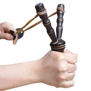 새로운 나무 slingshot 야외 슈팅 장난감 장난감 대나무 스타일 나무 장난감 아이들 어린이 스포츠 게임 Slingshot Catapult 재미있는 사냥 선물 OOD5713