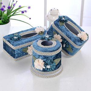 Tissue Boxes & Napkins Exquisite European Fabric Plastic Box Holder For Car Kitchen Storage Napkin Case Container Table Decoration